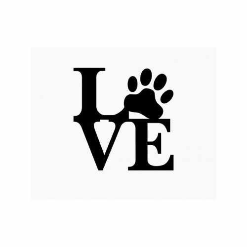 Love Paw Family  Vinyl Decal Sticker  Size option will determine the size from the longest side Industry standard high performance calendared vinyl film Cut from Oracle 651 2.5 mil Outdoor durability is 7 years Glossy surface finish