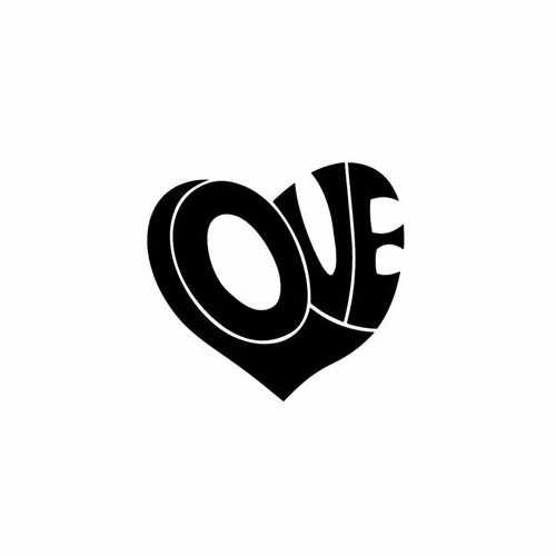 Love Inside Heart  Vinyl Decal Sticker  Size option will determine the size from the longest side Industry standard high performance calendared vinyl film Cut from Oracle 651 2.5 mil Outdoor durability is 7 years Glossy surface finish