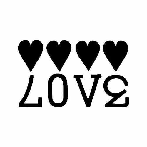 Love Hearts  Vinyl Decal Sticker  Size option will determine the size from the longest side Industry standard high performance calendared vinyl film Cut from Oracle 651 2.5 mil Outdoor durability is 7 years Glossy surface finish