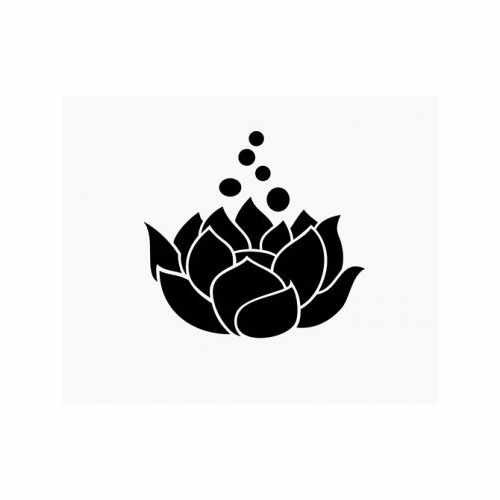 Lotus Flower  Vinyl Decal Sticker  Size option will determine the size from the longest side Industry standard high performance calendared vinyl film Cut from Oracle 651 2.5 mil Outdoor durability is 7 years Glossy surface finish