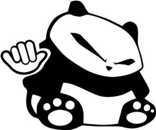 Hang Loose Drift Panda JDM Decal  Size option will determine the size from the longest side Industry standard high performance calendared vinyl film Cut from Oracle 651 2.5 mil Outdoor durability is 7 years Glossy surface finish