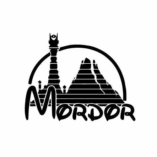 Lord Of The Rings Mordor Vinyl Decal Sticker  Size option will determine the size from the longest side Industry standard high performance calendared vinyl film Cut from Oracle 651 2.5 mil Outdoor durability is 7 years Glossy surface finish