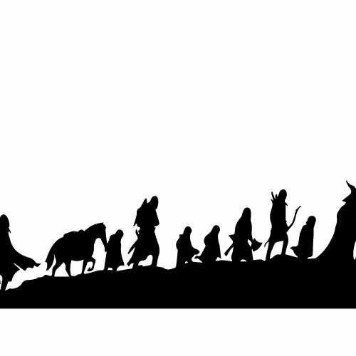 Lord Of The Rings Journey Vinyl Decal Sticker  Size option will determine the size from the longest side Industry standard high performance calendared vinyl film Cut from Oracle 651 2.5 mil Outdoor durability is 7 years Glossy surface finish