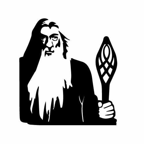 Lord Of The Rings Gandolf Vinyl Decal Sticker  Size option will determine the size from the longest side Industry standard high performance calendared vinyl film Cut from Oracle 651 2.5 mil Outdoor durability is 7 years Glossy surface finish