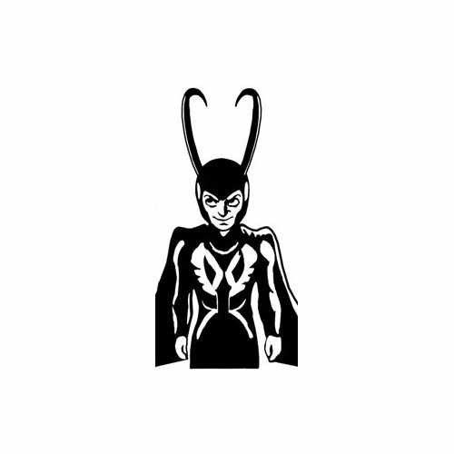 Loki Toon  Vinyl Decal Sticker  Size option will determine the size from the longest side Industry standard high performance calendared vinyl film Cut from Oracle 651 2.5 mil Outdoor durability is 7 years Glossy surface finish