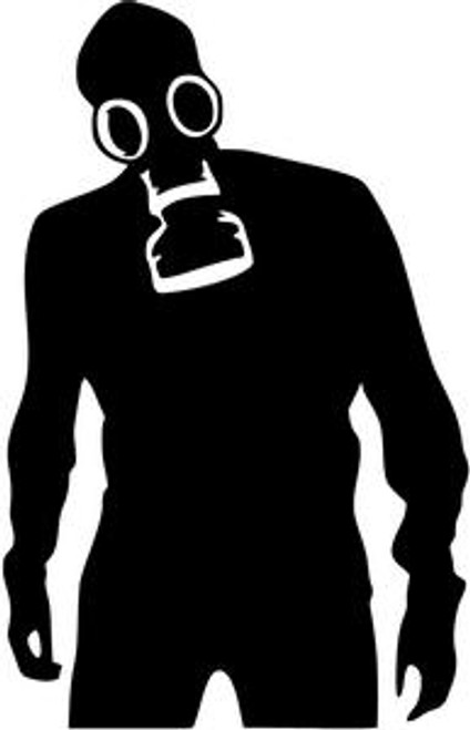 Military Gas Mask JDM Decal  Style 1  Size option will determine the size from the longest side Industry standard high performance calendared vinyl film Cut from Oracle 651 2.5 mil Outdoor durability is 7 years Glossy surface finish