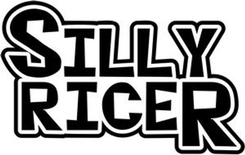 Silly Racer JDM Decal  Size option will determine the size from the longest side Industry standard high performance calendared vinyl film Cut from Oracle 651 2.5 mil Outdoor durability is 7 years Glossy surface finish