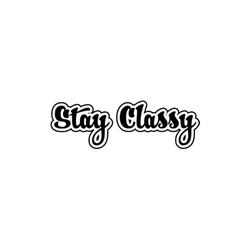 Stay Classy JDM Decal Style 1  Size option will determine the size from the longest side Industry standard high performance calendared vinyl film Cut from Oracle 651 2.5 mil Outdoor durability is 7 years Glossy surface finish
