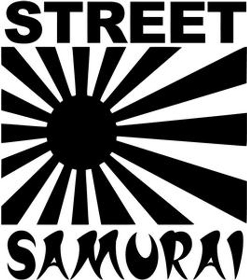 Street Samurai JDM Decal  Size option will determine the size from the longest side Industry standard high performance calendared vinyl film Cut from Oracle 651 2.5 mil Outdoor durability is 7 years Glossy surface finish