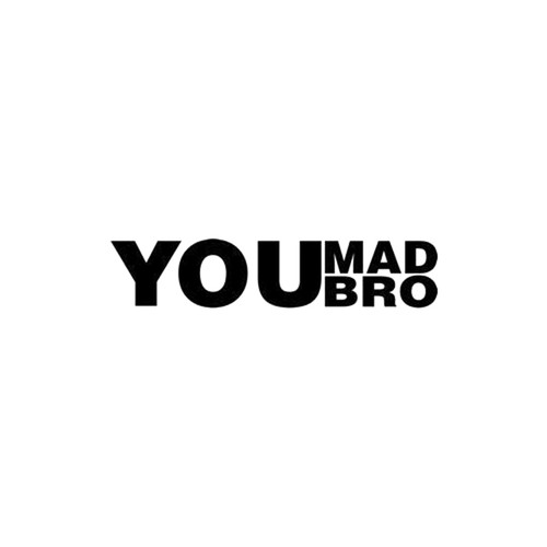 You Mad Bro JDM Decal Style 2  Size option will determine the size from the longest side Industry standard high performance calendared vinyl film Cut from Oracle 651 2.5 mil Outdoor durability is 7 years Glossy surface finish