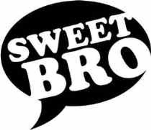 Sweet Bro JDM Decal  Style 2  Size option will determine the size from the longest side Industry standard high performance calendared vinyl film Cut from Oracle 651 2.5 mil Outdoor durability is 7 years Glossy surface finish