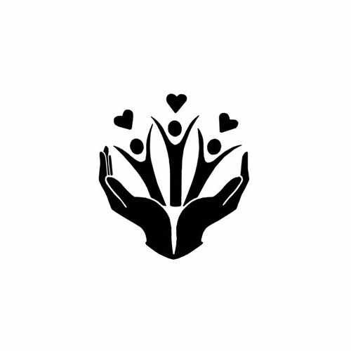 Kids In Hands Of Love  Vinyl Decal Sticker  Size option will determine the size from the longest side Industry standard high performance calendared vinyl film Cut from Oracle 651 2.5 mil Outdoor durability is 7 years Glossy surface finish