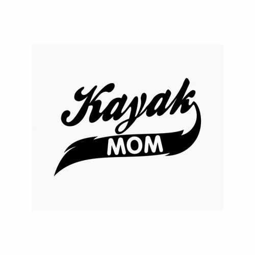 Kayak Mom  Vinyl Decal Sticker  Size option will determine the size from the longest side Industry standard high performance calendared vinyl film Cut from Oracle 651 2.5 mil Outdoor durability is 7 years Glossy surface finish