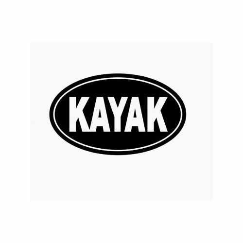 Kayak Canoe Oval  Vinyl Decal Sticker  Size option will determine the size from the longest side Industry standard high performance calendared vinyl film Cut from Oracle 651 2.5 mil Outdoor durability is 7 years Glossy surface finish