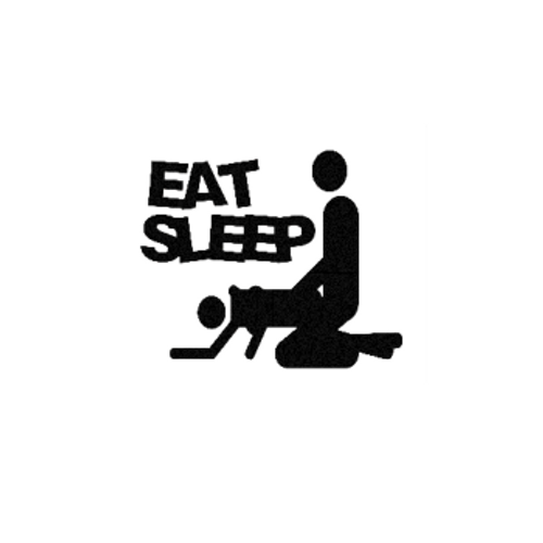 Eat Sleep gy Sticker Product Details  Industry standard high performance calendared vinyl film Cut from 2.5 mil Premium Outdoor Vinyl Outdoor durability is 7 years Glossy surface finish  Apply our vinyl decals to just about any surface to express your own individual style! All you have to do is choose a design from our collection or contact us to begin customizing your own decal. To give you plenty of options, you get to determine from 16 colors, 20 sizes, and over 15K designs! When ready to use your vinyl decal, stick the transfer tape side to your wall, car, boat, motorcycle or any other flat surface and then remove the wax paper backing before gliding over it with a squeegee or credit card. That's all there is too it.