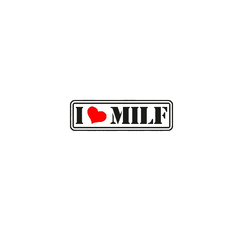 i love milf outline Product Details   Industry standard high performance calendared vinyl film  Cut from 2.5 mil Premium Outdoor Vinyl  Outdoor durability is 7 years  Glossy surface finish  Apply our vinyl decals to just about any surface to express your own individual style! All you have to do is choose a design from our collection or contact us to begin customizing your own decal. To give you plenty of options, you get to determine from 16 colors, 20 sizes, and over 15K designs! When ready to use your vinyl decal, stick the transfer tape side to your wall, car, boat, motorcycle or any other flat surface and then remove the wax paper backing before gliding over it with a squeegee or credit card. That's all there is too it.