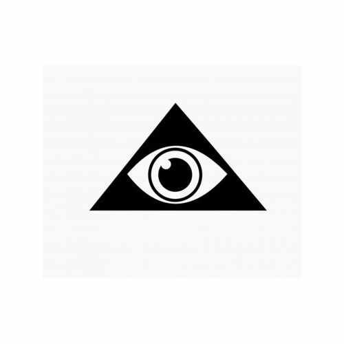 Illuminati Eye  Vinyl Decal Sticker  Size option will determine the size from the longest side Industry standard high performance calendared vinyl film Cut from Oracle 651 2.5 mil Outdoor durability is 7 years Glossy surface finish