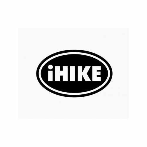Ihike Oval  Vinyl Decal Sticker  Size option will determine the size from the longest side Industry standard high performance calendared vinyl film Cut from Oracle 651 2.5 mil Outdoor durability is 7 years Glossy surface finish
