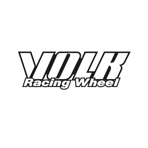 Volk Wheels Decals  Vinl Decal Car Graphics Made from only the best quality vinyl Glossy Outdoor lifespan 5 -7 years Indoor lifespan is much longer Easy application