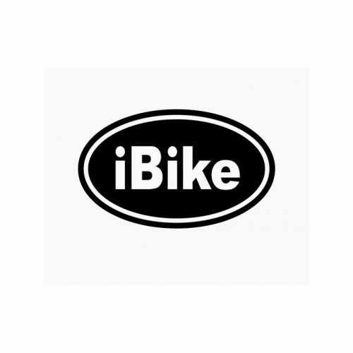 Ibike Oval  Vinyl Decal Sticker  Size option will determine the size from the longest side Industry standard high performance calendared vinyl film Cut from Oracle 651 2.5 mil Outdoor durability is 7 years Glossy surface finish