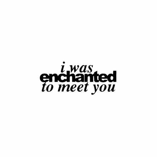 I Was Enchanted To Meet You  Vinyl Decal Sticker  Size option will determine the size from the longest side Industry standard high performance calendared vinyl film Cut from Oracle 651 2.5 mil Outdoor durability is 7 years Glossy surface finish