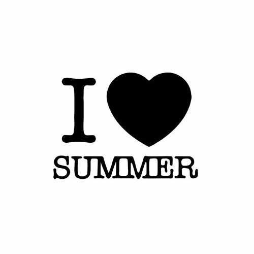 I Love Summer  Vinyl Decal Sticker  Size option will determine the size from the longest side Industry standard high performance calendared vinyl film Cut from Oracle 651 2.5 mil Outdoor durability is 7 years Glossy surface finish