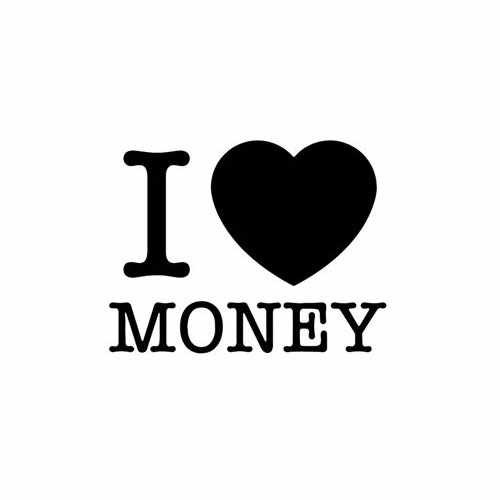 I Love Money  Vinyl Decal Sticker  Size option will determine the size from the longest side Industry standard high performance calendared vinyl film Cut from Oracle 651 2.5 mil Outdoor durability is 7 years Glossy surface finish