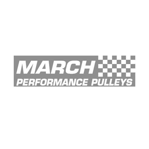 March Performance Pulleys Decals  Vinl Decal Car Graphics Made from only the best quality vinyl Glossy Outdoor lifespan 5 -7 years Indoor lifespan is much longer Easy application