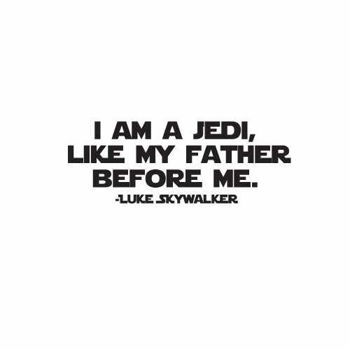 I Am A Jedi Vinyl Decal Sticker  Size option will determine the size from the longest side Industry standard high performance calendared vinyl film Cut from Oracle 651 2.5 mil Outdoor durability is 7 years Glossy surface finish