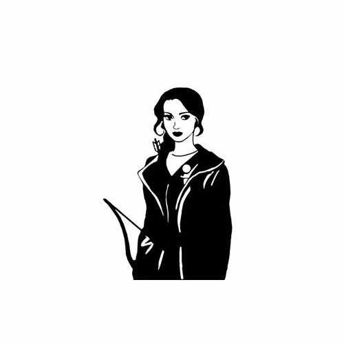 Hunger Games Katniss  Vinyl Decal Sticker  Size option will determine the size from the longest side Industry standard high performance calendared vinyl film Cut from Oracle 651 2.5 mil Outdoor durability is 7 years Glossy surface finish