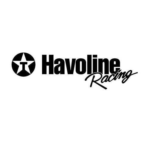 Havoline Racing Decals  Vinl Decal Car Graphics Made from only the best quality vinyl Glossy Outdoor lifespan 5 -7 years Indoor lifespan is much longer Easy application