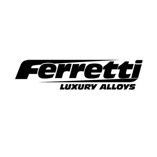 Ferretti Wheels Decals  Vinl Decal Car Graphics Made from only the best quality vinyl Glossy Outdoor lifespan 5 -7 years Indoor lifespan is much longer Easy application