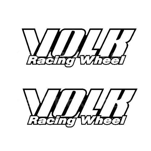Volk Racing Wheels C Sticker Made from only the best quality vinyl Glossy Outdoor lifespan 5 -7 years Indoor lifespan is much longer Easy application