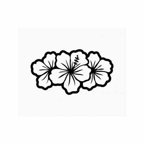 Hibiscus Flowers Island Girl  Vinyl Decal Sticker  Size option will determine the size from the longest side Industry standard high performance calendared vinyl film Cut from Oracle 651 2.5 mil Outdoor durability is 7 years Glossy surface finish