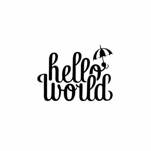 Hello World  Vinyl Decal Sticker  Size option will determine the size from the longest side Industry standard high performance calendared vinyl film Cut from Oracle 651 2.5 mil Outdoor durability is 7 years Glossy surface finish