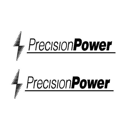 Precision Power Audio A Sticker Made from only the best quality vinyl Glossy Outdoor lifespan 5 -7 years Indoor lifespan is much longer Easy application
