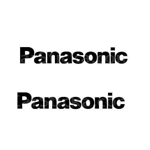 Panasonic Audio Sticker Made from only the best quality vinyl Glossy Outdoor lifespan 5 -7 years Indoor lifespan is much longer Easy application