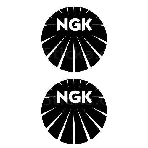 NGK Spark Plugs B Sticker Made from only the best quality vinyl Glossy Outdoor lifespan 5 -7 years Indoor lifespan is much longer Easy application