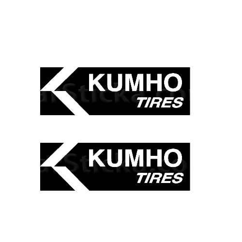 Kumho Tires Sticker Made from only the best quality vinyl Glossy Outdoor lifespan 5 -7 years Indoor lifespan is much longer Easy application
