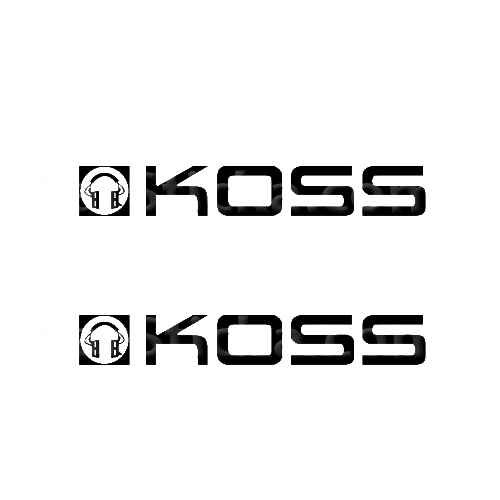 Koss Audio Sticker Made from only the best quality vinyl Glossy Outdoor lifespan 5 -7 years Indoor lifespan is much longer Easy application