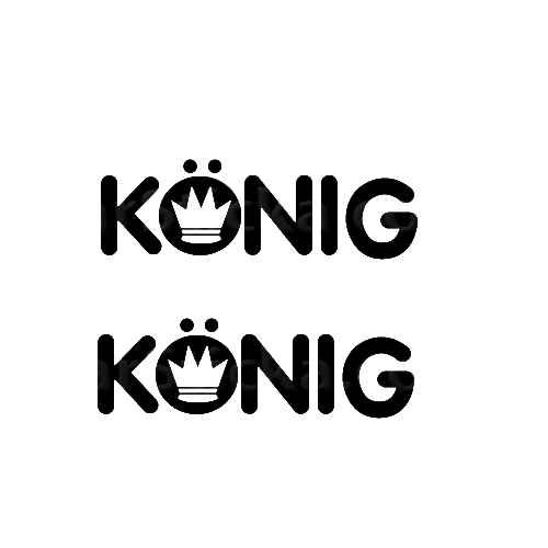 Konig Sticker Made from only the best quality vinyl Glossy Outdoor lifespan 5 -7 years Indoor lifespan is much longer Easy application