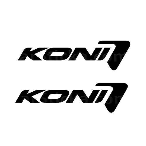 Koni Suspensions Sticker Made from only the best quality vinyl Glossy Outdoor lifespan 5 -7 years Indoor lifespan is much longer Easy application