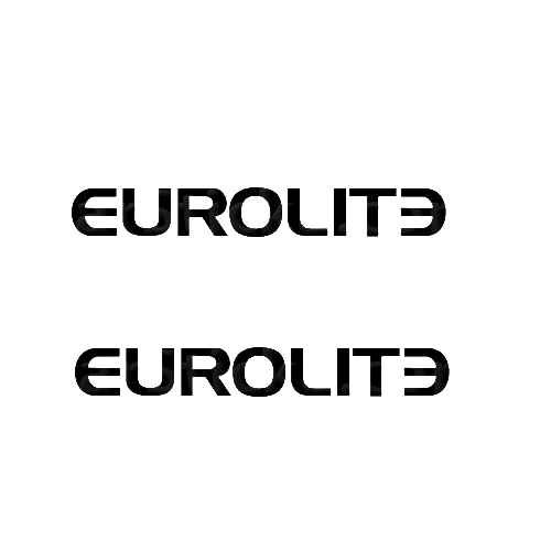 Eurolite Sticker Made from only the best quality vinyl Glossy Outdoor lifespan 5 -7 years Indoor lifespan is much longer Easy application