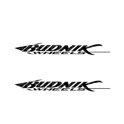 Budnik Wheels Sticker Made from only the best quality vinyl Glossy Outdoor lifespan 5 -7 years Indoor lifespan is much longer Easy application