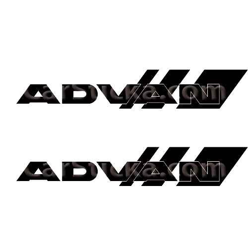 Advan Wheels B Sticker Made from only the best quality vinyl Glossy Outdoor lifespan 5 -7 years Indoor lifespan is much longer Easy application