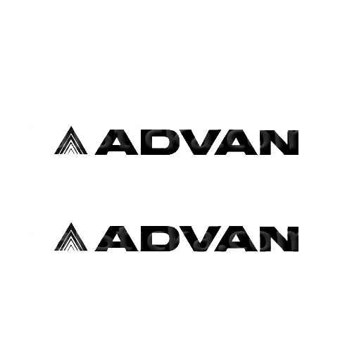 Advan Sticker Made from only the best quality vinyl Glossy Outdoor lifespan 5 -7 years Indoor lifespan is much longer Easy application