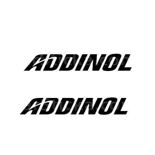 Addinol Sticker Made from only the best quality vinyl Glossy Outdoor lifespan 5 -7 years Indoor lifespan is much longer Easy application