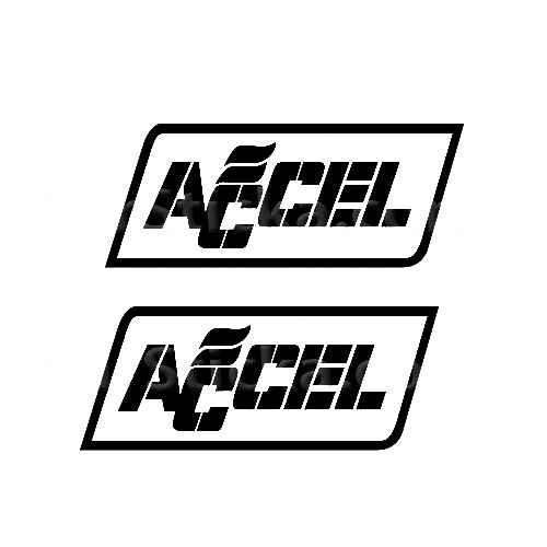 Accel (B) Sticker Made from only the best quality vinyl Glossy Outdoor lifespan 5 -7 years Indoor lifespan is much longer Easy application