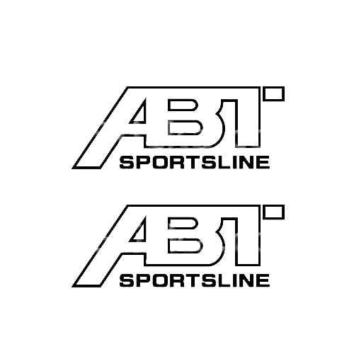 ABT Sportsline Sticker Made from only the best quality vinyl Glossy Outdoor lifespan 5 -7 years Indoor lifespan is much longer Easy application