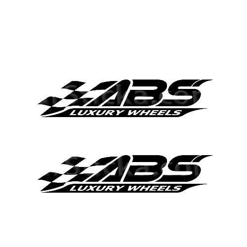 ABS Wheels Sticker Made from only the best quality vinyl Glossy Outdoor lifespan 5 -7 years Indoor lifespan is much longer Easy application